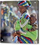 Woman And Child Iv Acrylic Print