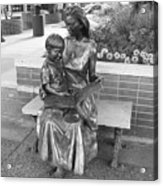 Woman And Child Sculpture Grand Junction Co Acrylic Print