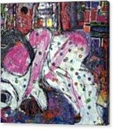 Woman And Dog Acrylic Print