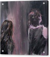 Woman And Friend Acrylic Print