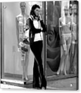Woman And Mannequins Acrylic Print