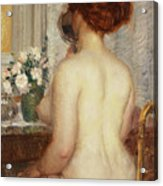 Woman At A Dressing Table Acrylic Print