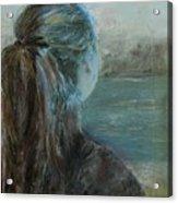 Woman At Bay Acrylic Print