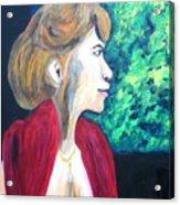 Woman At The Window Acrylic Print