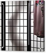 Woman Behind Shoji Screen Acrylic Print