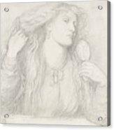 Woman Combing Her Hair, Fanny Cornforth Acrylic Print