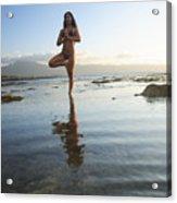 Woman Doing Yoga Acrylic Print by Brandon Tabiolo - Printscapes