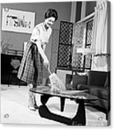 Woman Dusting, C.1950-60s Acrylic Print