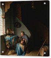 Woman Eating Porridge Acrylic Print