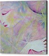 Woman Face Detail Acrylic Print