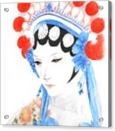 Woman From Chinese Opera With Tattoos -- The Original -- Asian Woman Portrait Acrylic Print