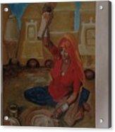 Woman Grinding Acrylic Print