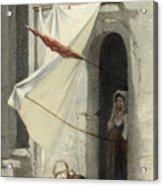 Woman In A Doorway. Rome Acrylic Print