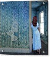 Woman In Abandoned House Acrylic Print by Jill Battaglia