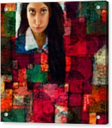 Woman In Abstract 454 Acrylic Print