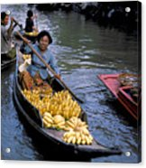 Woman In Banana Boat Acrylic Print