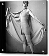 Woman In Bathing Suit And Cape, C.1920s Acrylic Print