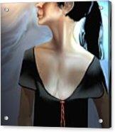 Woman In Black Acrylic Print