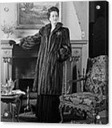 Woman In Fur Coat, C.1940s Acrylic Print