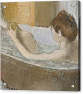 Woman In Her Bath Acrylic Print