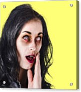 Woman In Horror Makeup Acrylic Print