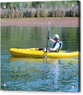 Woman In Kayak Acrylic Print