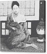 Woman In Kimono Acrylic Print by Don Perino