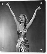 Woman In Metallic Dress, C.1950s Acrylic Print