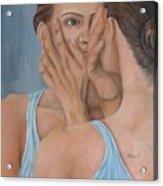 Woman In Mirror Acrylic Print