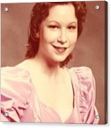 Woman In Pink Acrylic Print