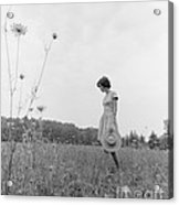 Woman In Summer Meadow, C.1970s Acrylic Print