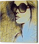 Woman In Sunglasses Acrylic Print