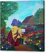 Woman In The Garden Acrylic Print