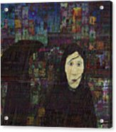 Woman In The Rain Acrylic Print