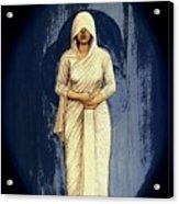 Woman In White - Widow Acrylic Print