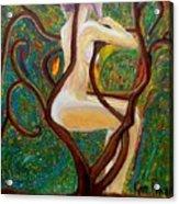 Woman Intrigue Acrylic Print
