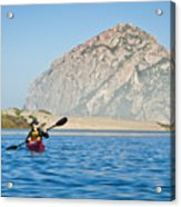 Woman Kayaking In Morro Bay Acrylic Print by Bill Brennan - Printscapes