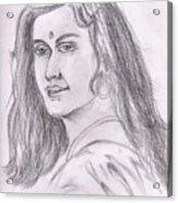 Woman Of India Acrylic Print