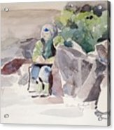 Woman Of The Rocks Acrylic Print