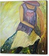 Woman Of Wheat Acrylic Print