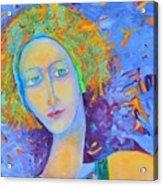 Woman Oil Portrait  Acrylic Print