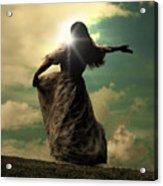 Woman On A Meadow Acrylic Print