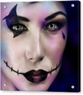 Woman On Halloween Party Acrylic Print