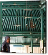 Woman On Mosque Acrylic Print