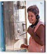 Woman On The Phone Acrylic Print