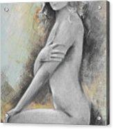 Woman Painted Acrylic Print