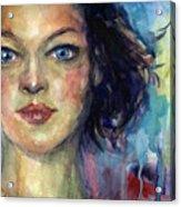 Woman  Portrait 2 Acrylic Print