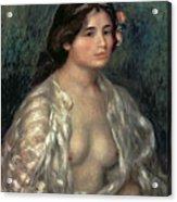 Woman Semi Nude Acrylic Print
