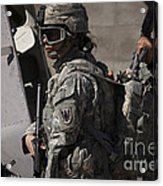 Woman Soldier Conducts A Combat Acrylic Print
