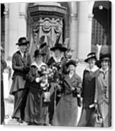 Woman Suffrage - Political Campaign Rose Winslow - Lucy Burns - Doris Stevens - Ruth Astor Noyes Etc Acrylic Print